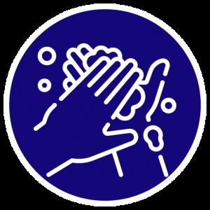 Higienize com frequência suas mãos